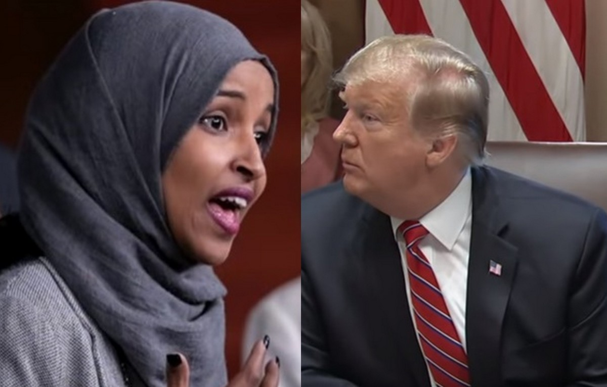 fact check  did president trump call for ilhan omar to